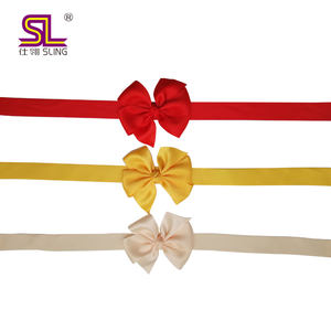 Wholesale Self adhesive pre-made satin Christmas gift ribbon bow