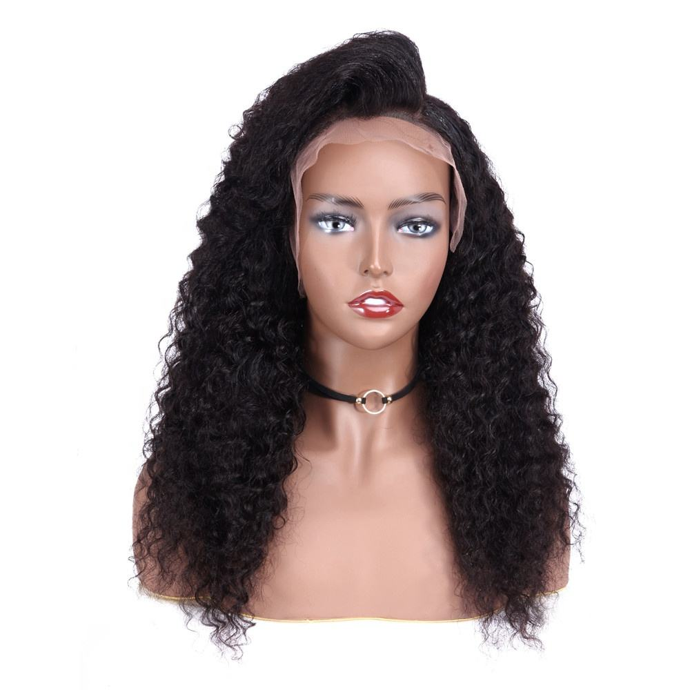 Pre-plucked Hairline with Baby Hair, virgin cuticle aligned Brazilian human hair Glueless Lace Front Wigs