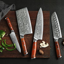 High-end chef knife Japanese damascus steel kitchen knife set vg10 knife