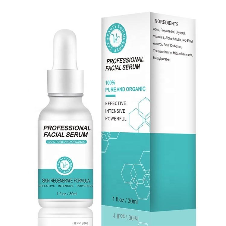 Private Label Korea Whitening Facial Vitamin E Serum with Vitamin C And Hyaluronic Acid 30Ml