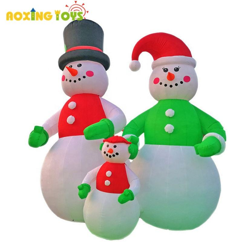 6m highoutdoor advertising inflatables christmas inflatable snowman's family decorations for holiday event yard
