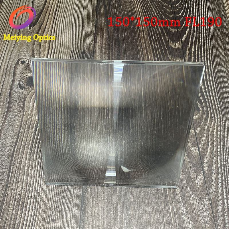 150*150mm with focal length 190 spot fresnel lens ,square fresnel lens for solar concentrator