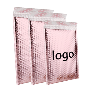 Custom Design Envelopes Padded Bubble Mailing Bags Rose Gold Poly Mailers Bubble Mailers Logo