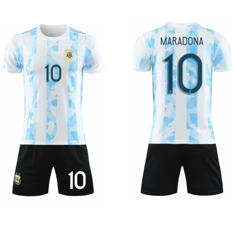 Football Uniform Customized Cheap Soccer Jersey Set Dry Fit Diego Maradona Football Jersey