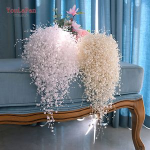 YouLaPan F24 Luxurious Handmade Colorful Pearl Bridal Bouquet of Wedding Accessories for Bridal