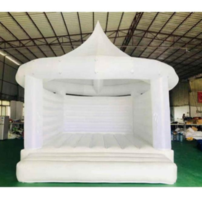 white bouncy castle for wedding/white jumping castle/white bouncy castle