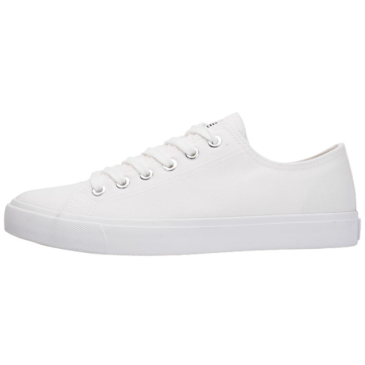 Mychonly Fashion Women And Men Canvas Shoes Sneaker White