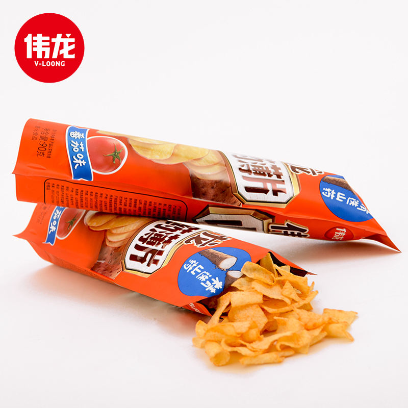 Weilong Chinese Yam Dunne Aardappel Chips Gezonde Snacks Zakken Ondersteuning Oem Lage Vet Chips Yam Chips