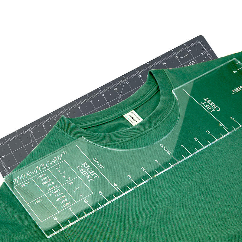 In Stock Hot Sale Plastic Alignment tshirt Ruler Acrylic t-shirt Ruler Guide