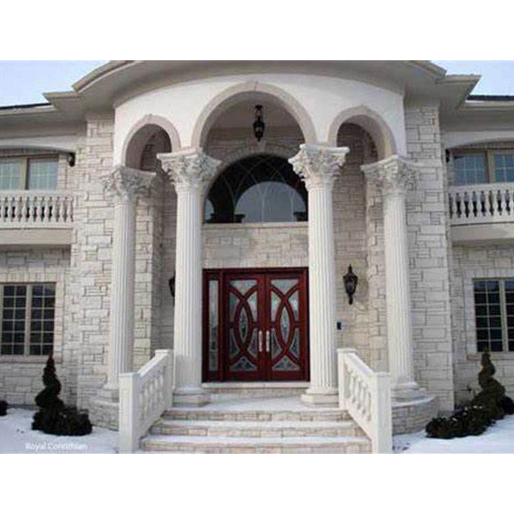 Outdoor Building Material Decorative White Marble Roman Pillar Stone Dreek Column