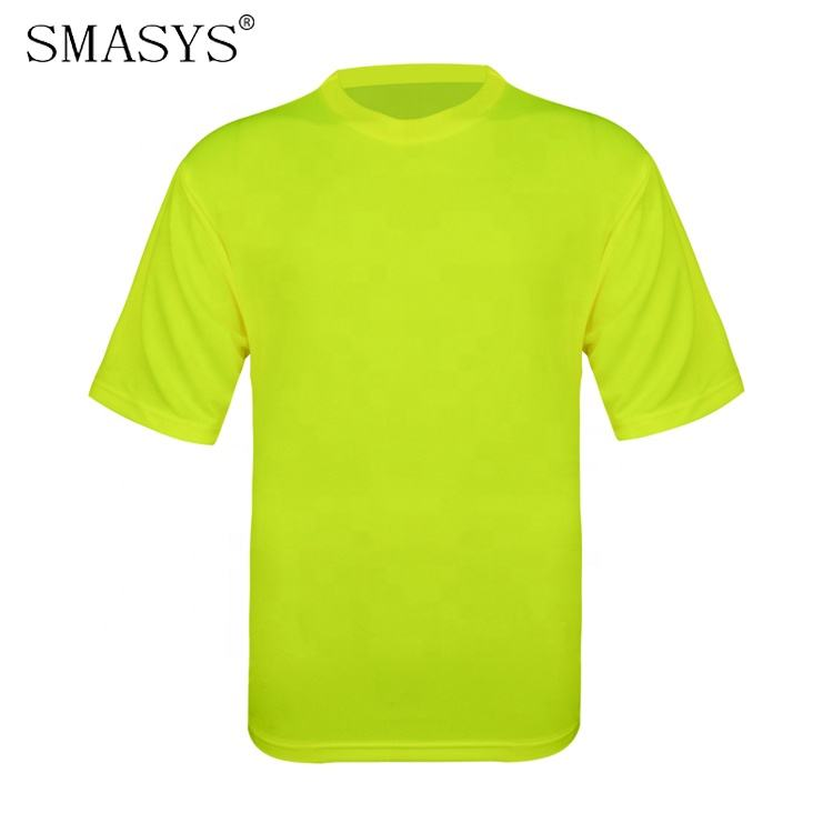 SMASYS Retail Breathable Reflection Safety Shirts High VIS Work Reflective Tshirts