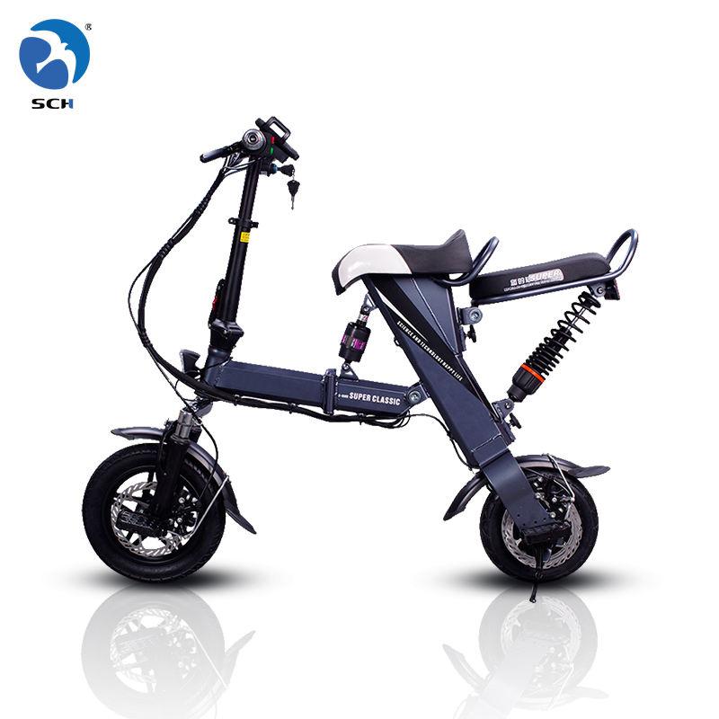 Barato 12 polegadas 36V 8Ah <span class=keywords><strong>bateria</strong></span> assento Duplo bicicleta dobrável elétrico com assento para adultos