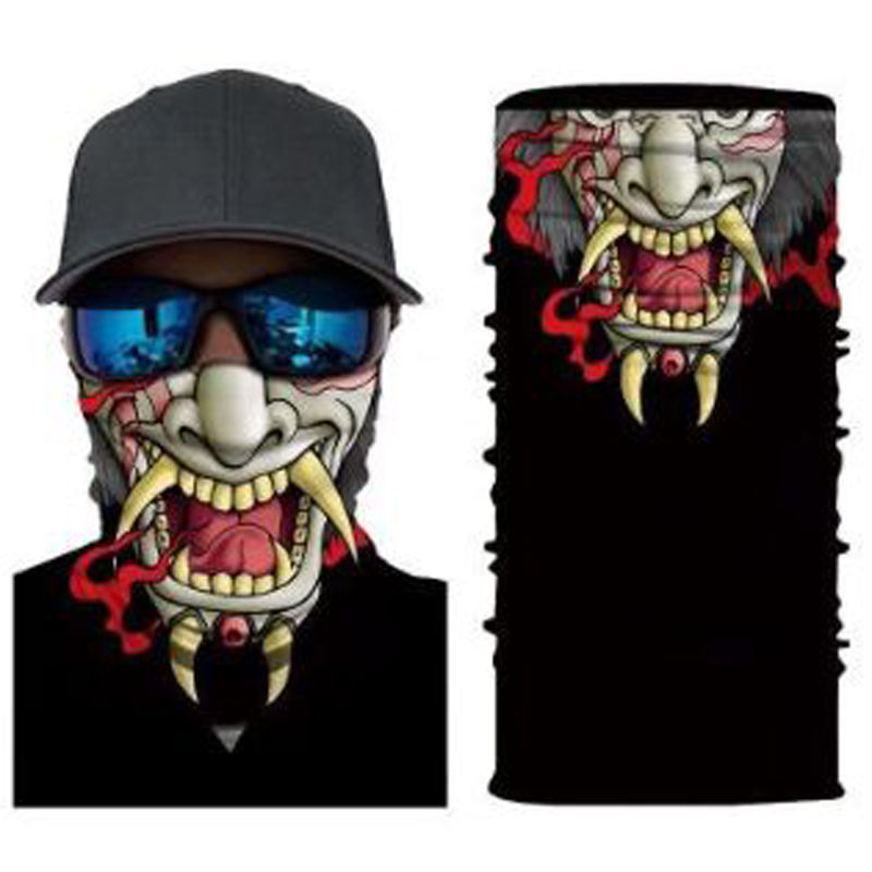 Halloween Requisiten Multi-functional Cycling 3D Turban Scarf Skullies Beanies Spring Skull Changed Magic Bandanas Customized