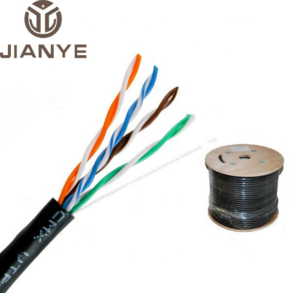 China manufacturer 24awg 8 cores 4 pairs outdoor utp cat5 cat5e cat 5e lan network cable for ethernet