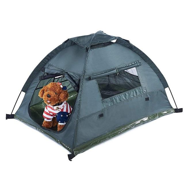Pet dog cat portable waterproof camping tent / pet travel bed / beach tent