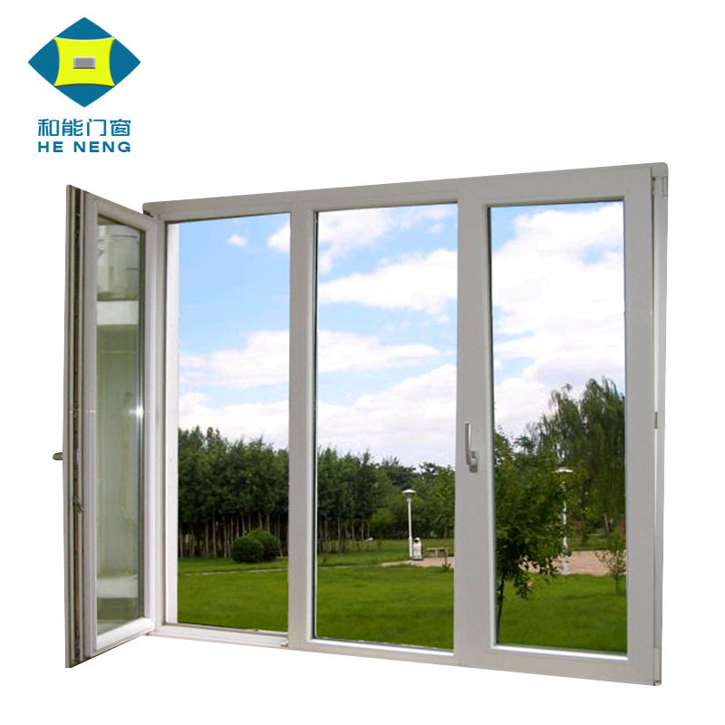 Most Popular China Factory Price Upvc House Doors Windows 3 Panel Triple PVC Casement Window