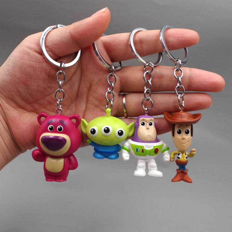 A Set Toy Story Woody Aliens Strawberry Buzz Light Year Keychains