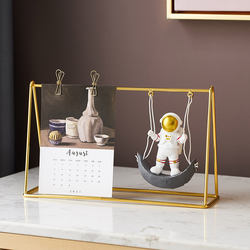 Metal Photo Frame Creative Astronaut Decoration Resin Charac