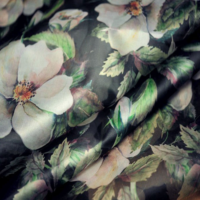 100% silk satin organza sillk fabric Raw silk fabric
