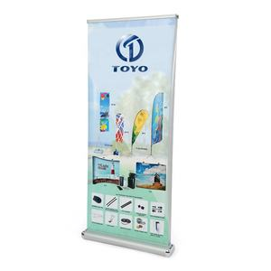 Double side roll up stand roll up horizontal banner stand for exhibition stand