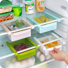 Creative home refrigerator fresh-keeping partition layer kitchen finishing storage rack creative classification rack