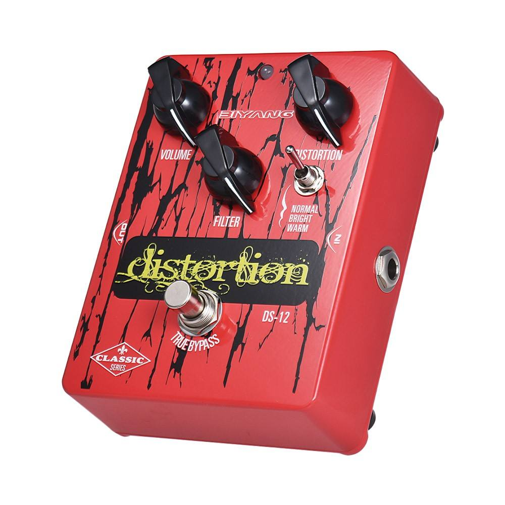 BIYANG DS-12 Classic Series Distortion Guitar Effect Pedal 3 Modes True Bypass Full Metal Shell