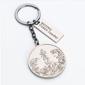 Custom Logo Foreign Women Metal A Train Coin Shopping Cart Token Anime Attack On Titan Keychain