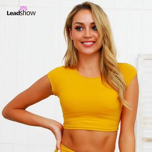 Ladies Fashion Women Fitness Crop Top Yoga Bra Running Fitness Yoga Sports Bra Fitness Small Bra Vest