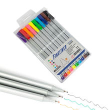 Fineliner Color Pen Set Colorful Ultra Fine 0.4mm Felt Tips in 10 Individual Colors Fineliner Pen