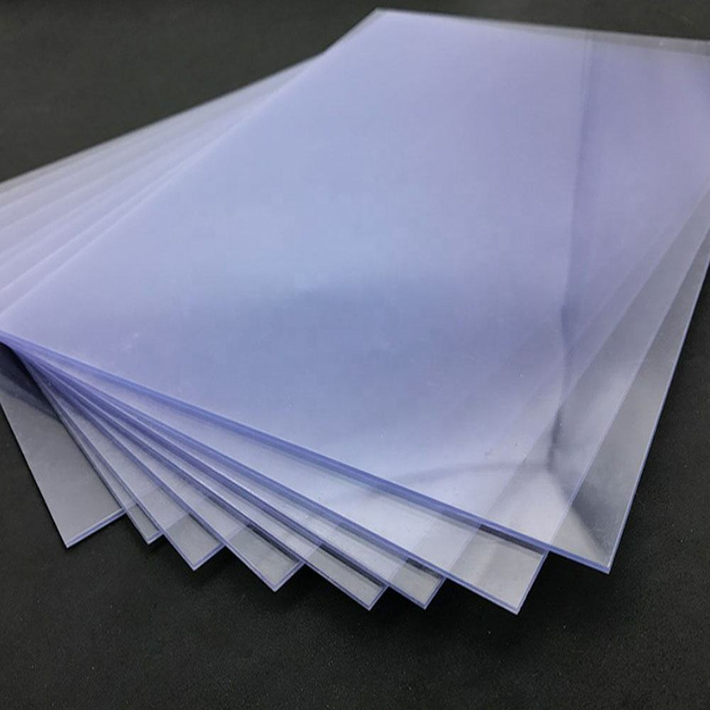 Clear Rigid Glossy Plastic PVC Sheet for Clothing Template