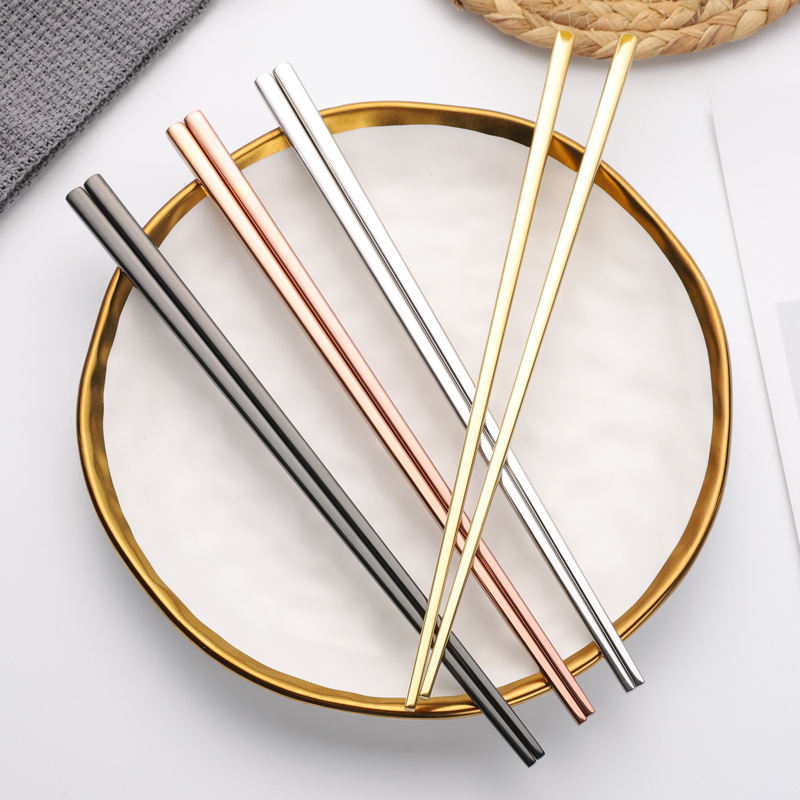 Amazon Best Seller Custom Logo Reusable 18/10 304 Metal Chinese Stainless Steel Chop Sticks