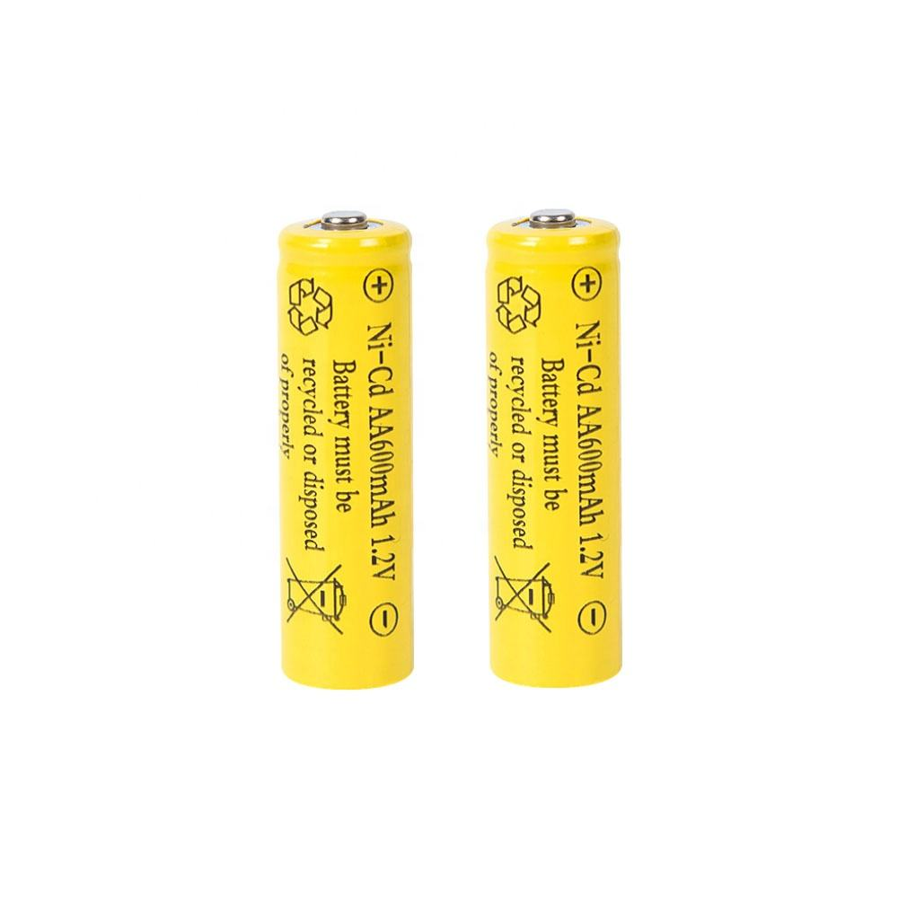 ni-cd rechargeable aa 600mah 1.2v battery