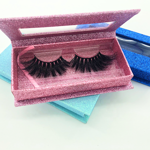 25mm Synthetic Eyelashes Private Label Thick Mink eyelash Chinese Wholesale Vendor with Eyelash Vendor Customized Boxes Supplier