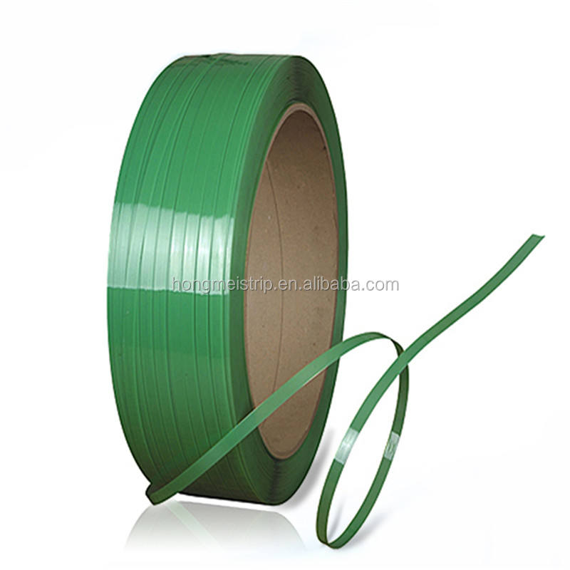 Green Embossed plastic strapping roll smooth PP Plastic strap