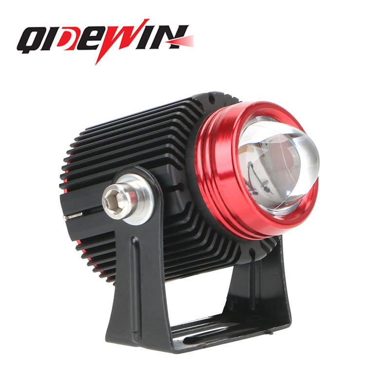 QIDEWIN Mini led fog headlight bulb yellow white Spotlight lens for motorcycle universal led driving light lamp