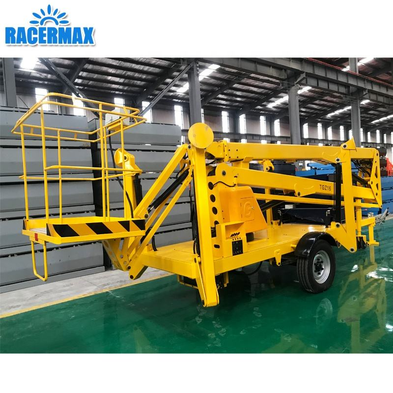 towable cherry pickers spider lift platform pickup truck mounted articulated telescopic Trailer manually knuckle mini boom lift