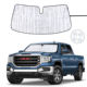 Car sunshade foldablt car sun shade front car window sunshades for GMC