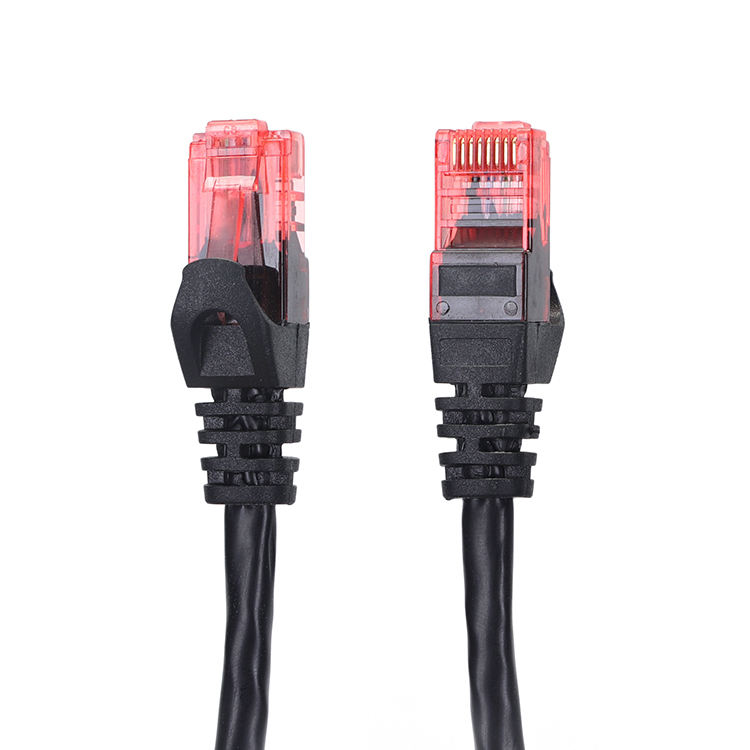 Jaringan Bulat Cat 6 Cu CCA Ethernet Kabel UTP RJ45 Cat6 Patch Cord