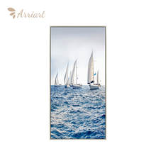 Wholesale Hd Print Modern Decorative Boat Seascape Canvas Wall Art Painting For Living Room Porch Decor