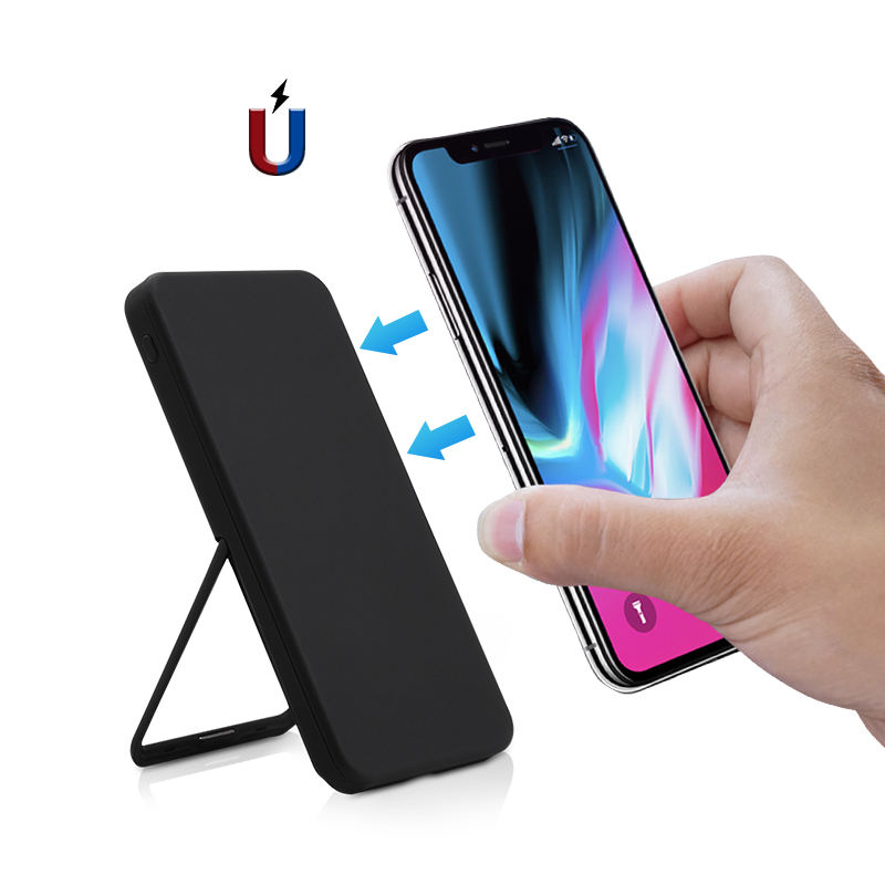 2019 New 8000mah Mini QI Wireless Charging Power Bank Usb Portable Powerbank Charger with Custom Color & Digital Display