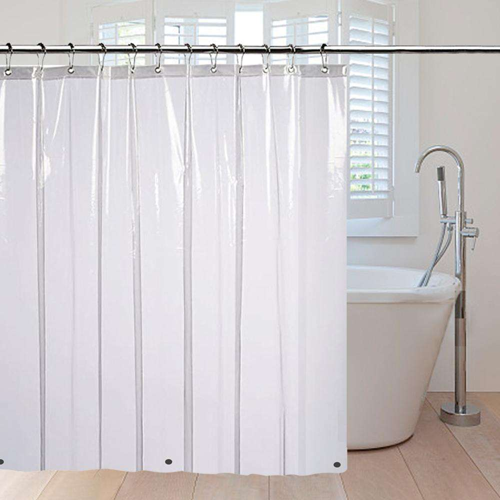 Resistant Antimicrobial PEVA 4G Shower Curtain Liner, 72x72 Clear is Non Toxic, Eco Friendly, No Chemical Odor, Rust Proof Gromm