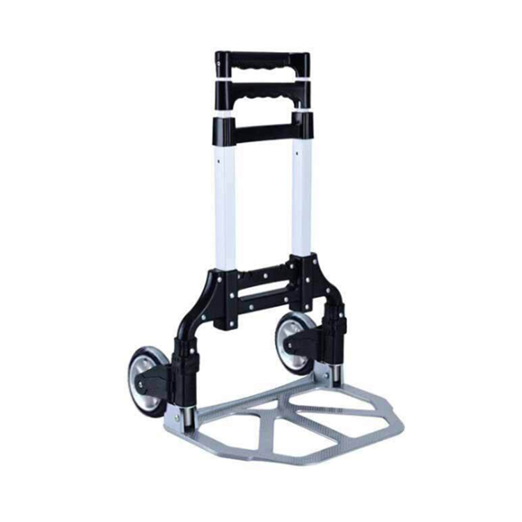 Hand trolley cart foldable aluminum shopping trolley