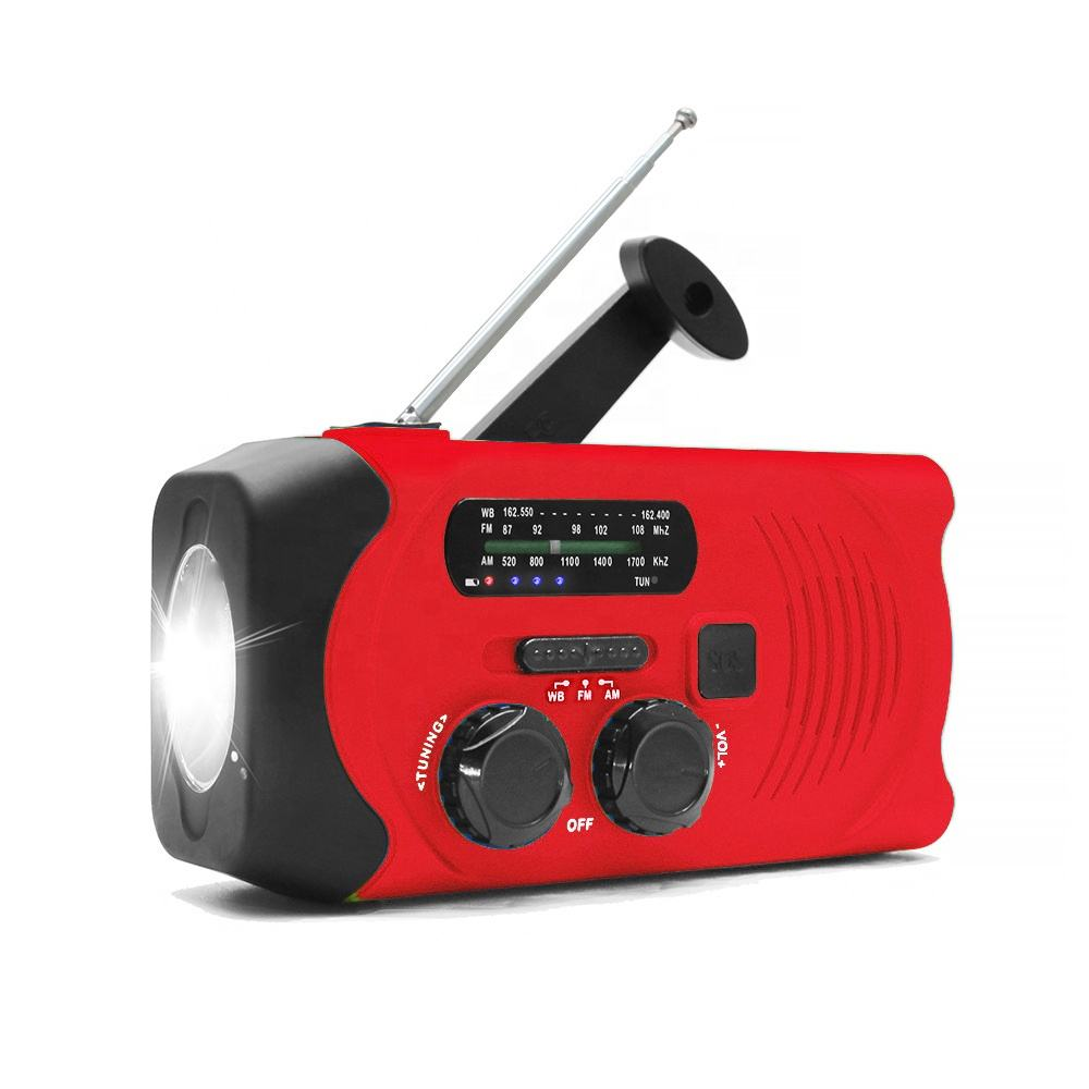 Di emergenza Noaa Am Fm Pocket Mini Solar Dynamo Radio con la Torcia Elettrica LED