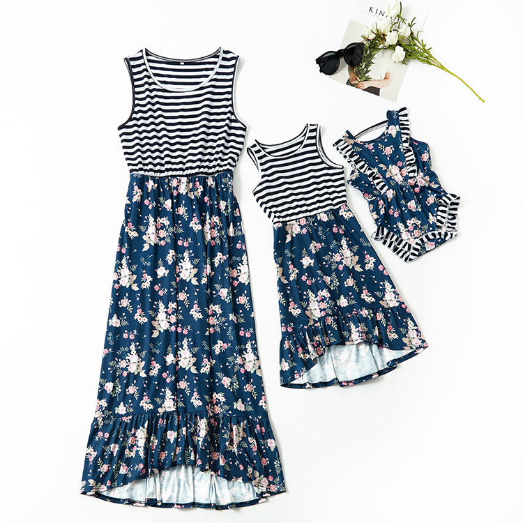 Fashion Printing Clothes Mommy And Me Clothing Mother Daughter Clothing Kids Parent Child Dresses Mom Daughter Matching Dresses