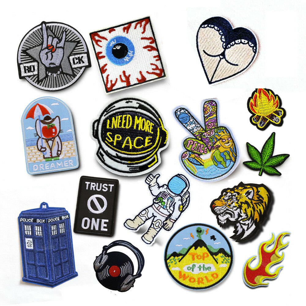 Patch Banner Badges Garment Custom Accessories Embroidery Iron On Patch Clothes Rock Band Applique