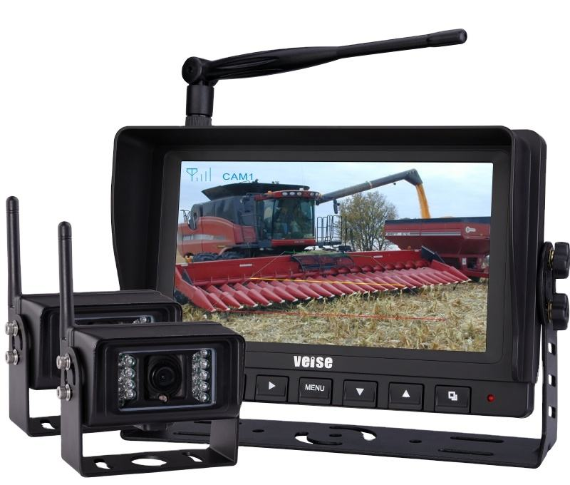 "Podofo Wireless Rear View BackアップCamera Waterproof Night Vision System + 7 ""MonitorためRV Truck Bus Trailer Lorry 12V 24V"