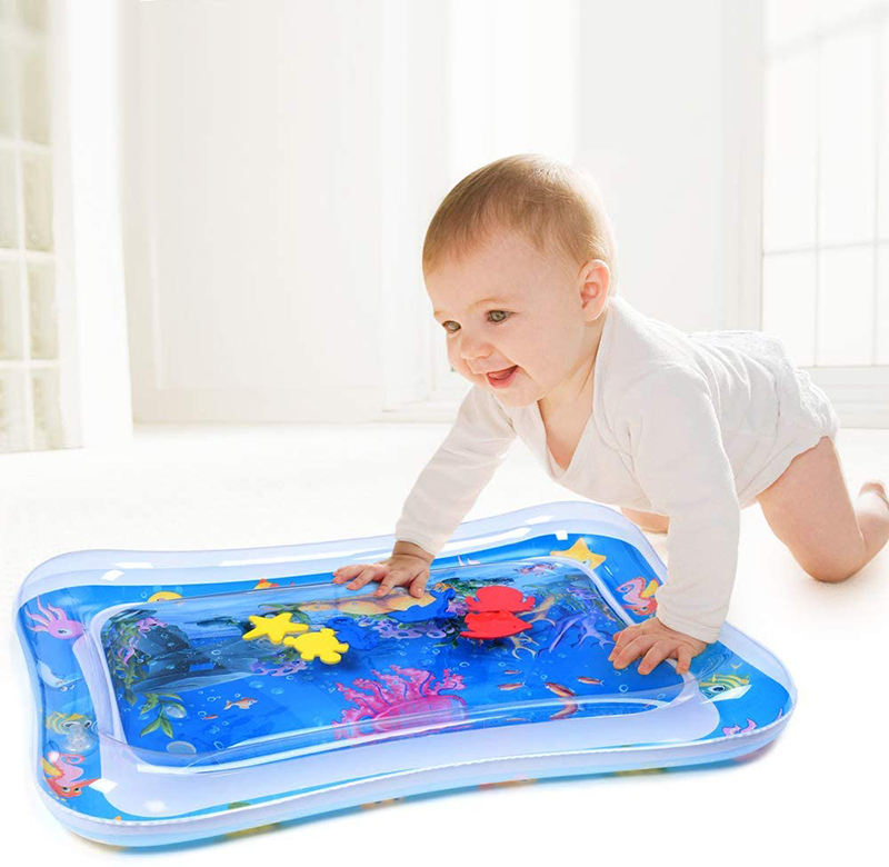 100% Leakproof PVCTummy Time Baby Water Mat Infant Toy Inflatable Play Mat for 3 6 9 Months Newborn Boy Girl Water Baby Mat