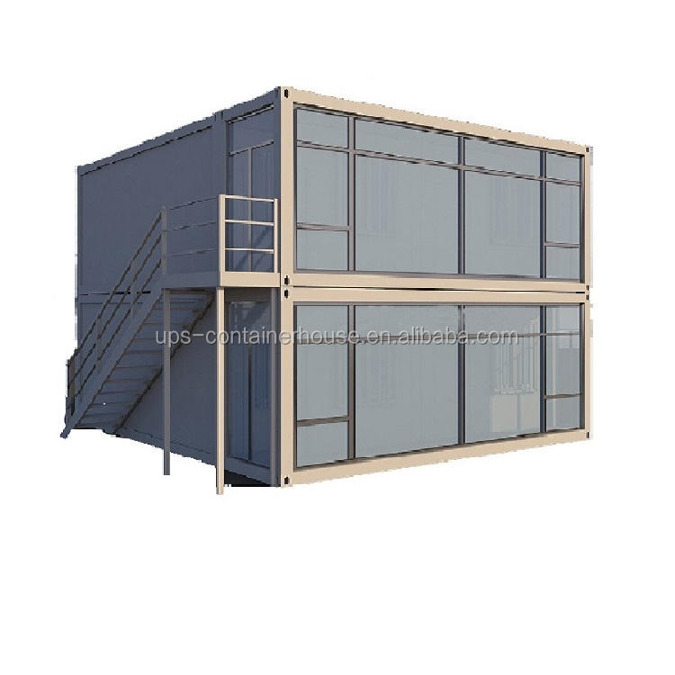 Quick assembly 20 foot container homes steel frame 20ft house for kiosk / security room