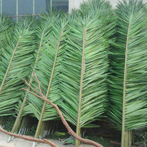 Artificial Plastic Outdoor Fresh Palm Tree Royal Palm Leaves, Artificial Coconut Tree Leaves