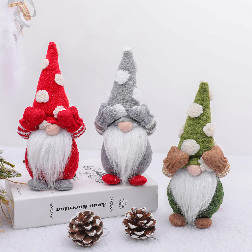 2020 Hot Sale Christmas Decoration Cute Sitting Long-legged Elf Festival New Year Dinner Party no face doll